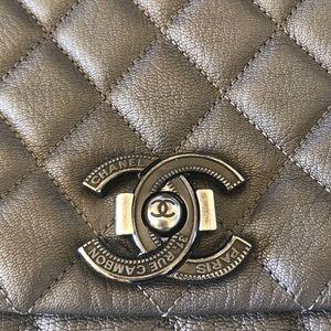 2c99c0601dfc CHANEL Bags | City Rock Goatskin Metallic Flap Bag | Poshmark